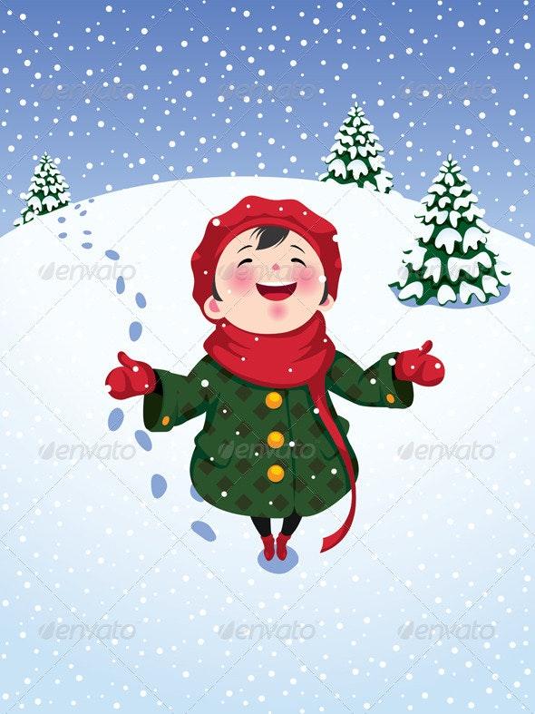 Winter Joy - People Characters