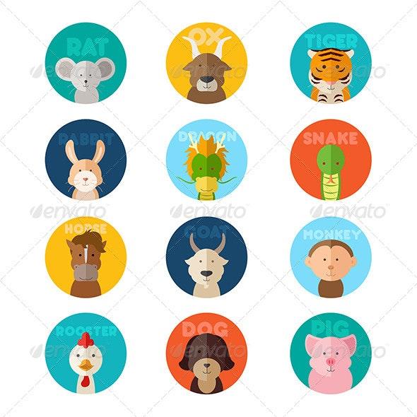 Chinese Zodiac Animal - Animals Characters