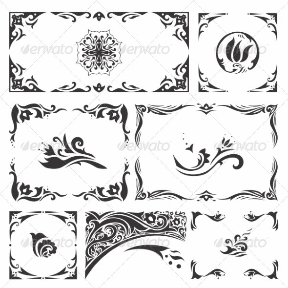 Arabic Ornaments - Borders Decorative