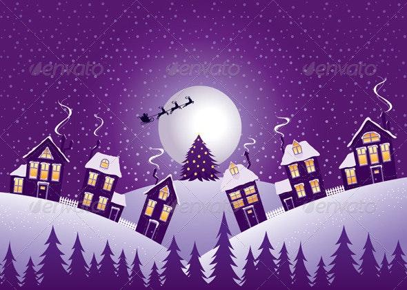 Violet Christmas Night - Christmas Seasons/Holidays