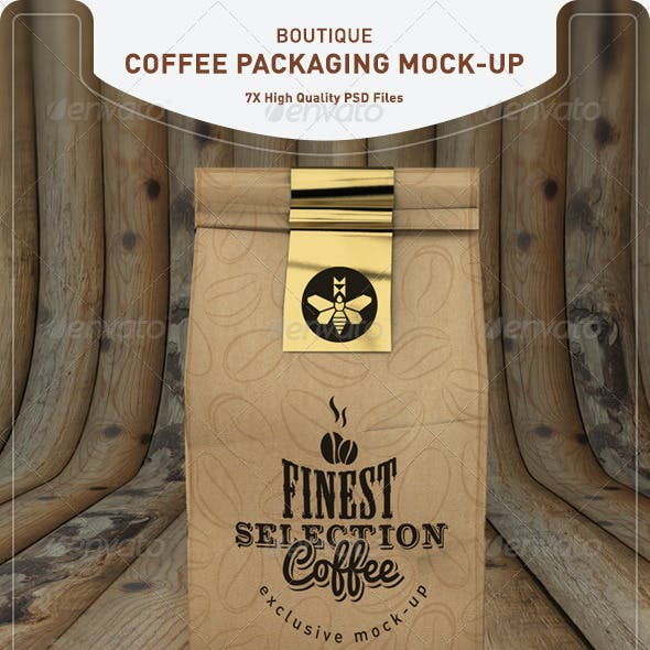 Coffee Bag Mock-Up | Coffee Packaging Mock-Up