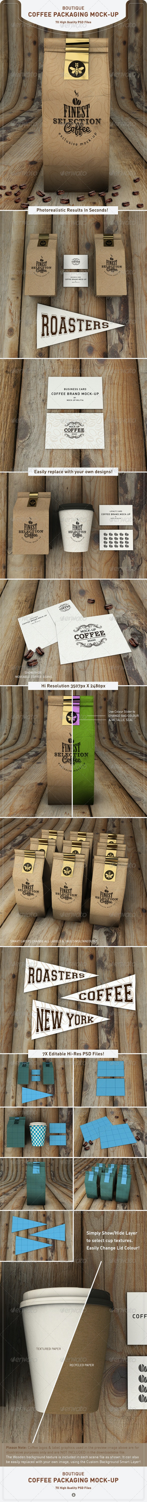 Coffee Bag Mock-Up | Coffee Packaging Mock-Up - Food and Drink Packaging