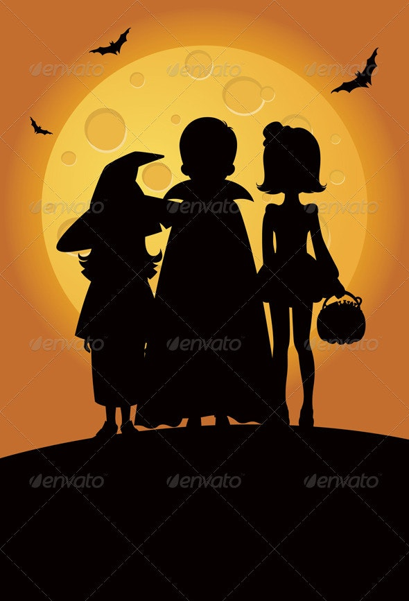 Children in Halloween: Trick or Treat - Halloween Seasons/Holidays