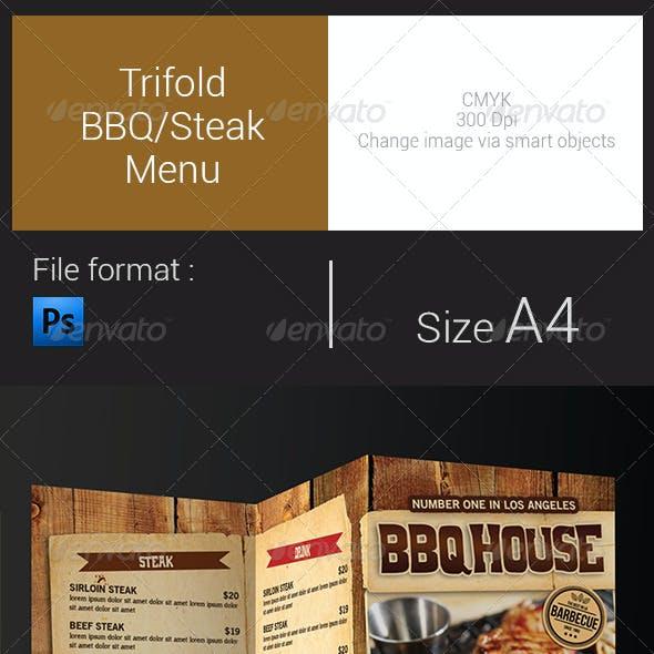 Trifold BBQ/Steak Menu