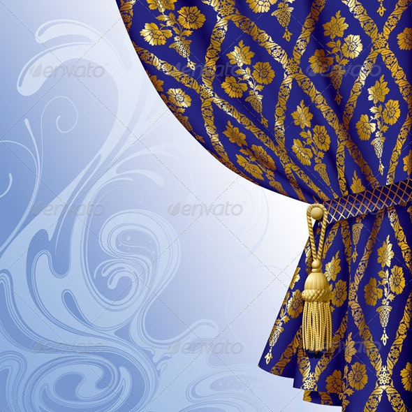 Blue Drape - Backgrounds Decorative