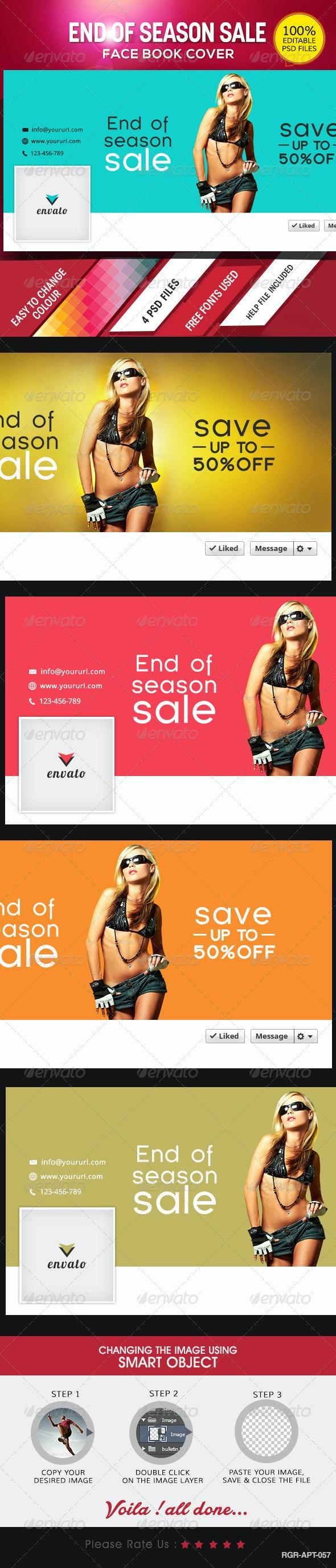 End of Season Sale Facebook Covers