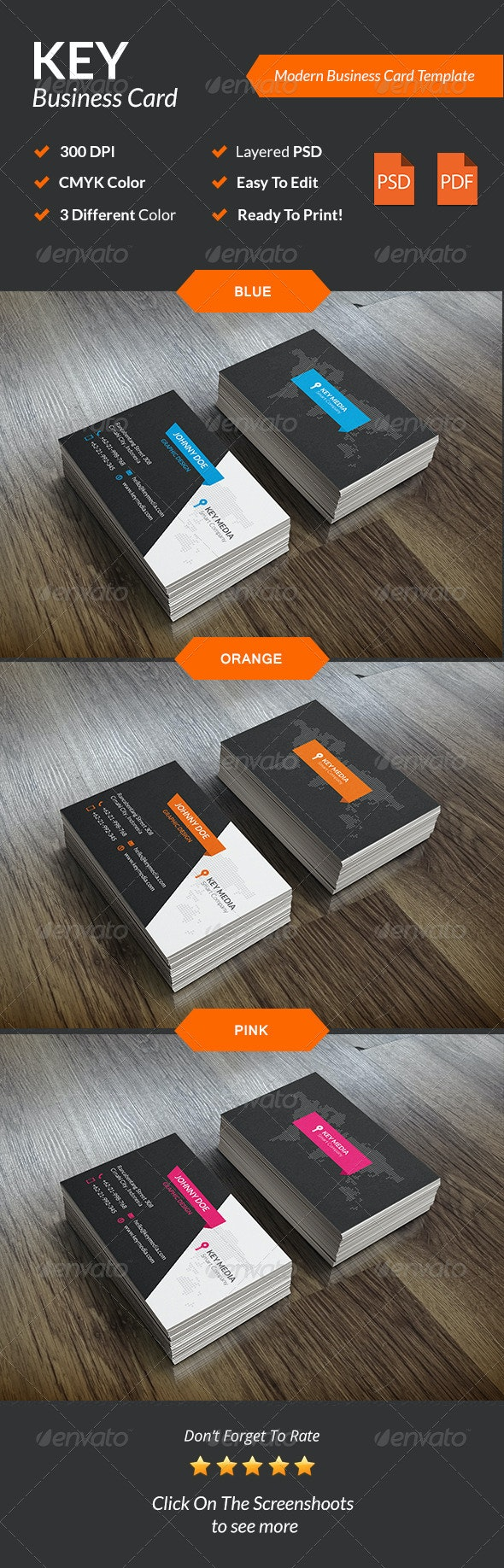 Key Modern Business Card - Corporate Business Cards