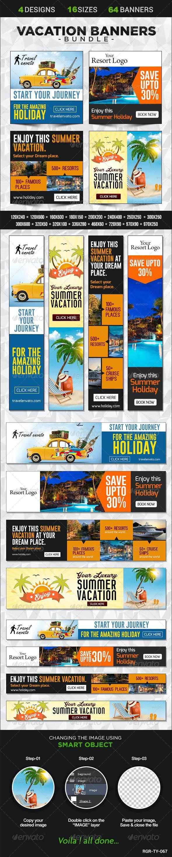 Vacation Banner Bundle - 4 sets