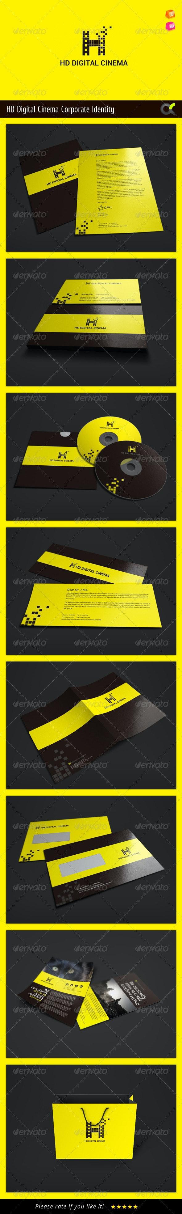 HD Digital Cinema Corporate Identity - Stationery Print Templates