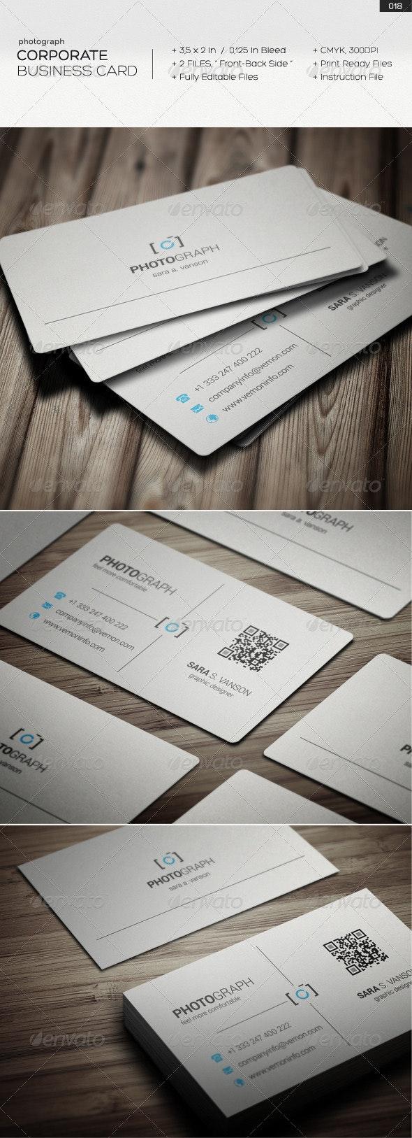Corporate Business Card 018 - Corporate Business Cards