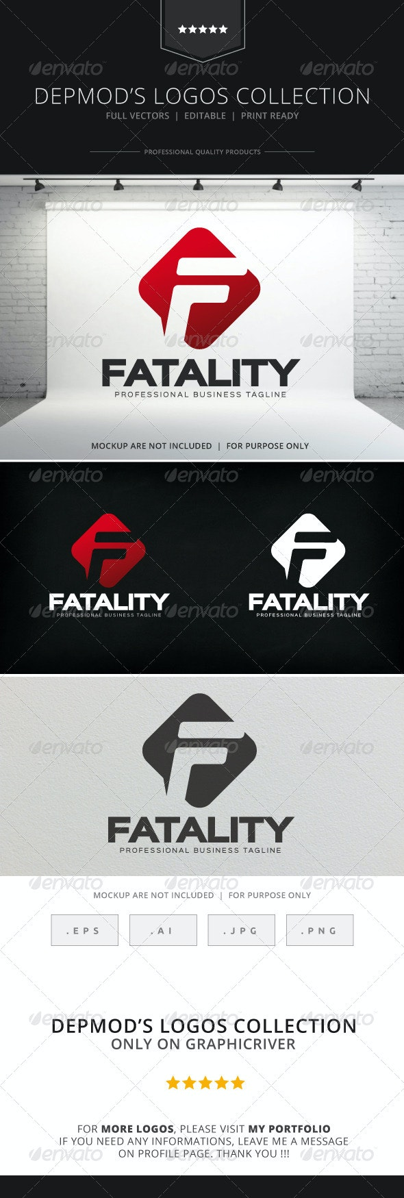Fatality Logo - Letters Logo Templates