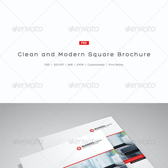 Clean and Modern Square Brochure