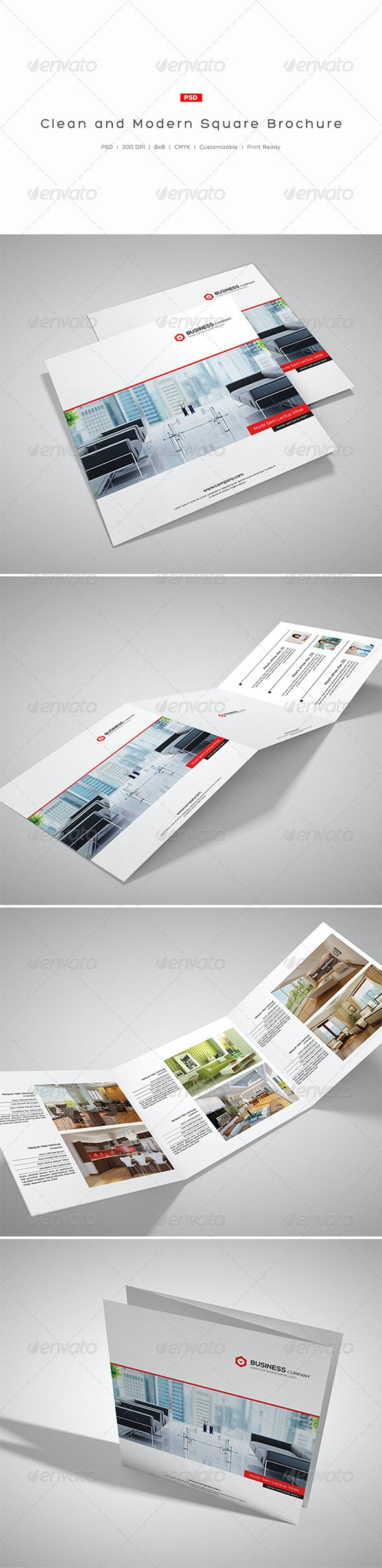 Clean and Modern Square Brochure - Corporate Brochures