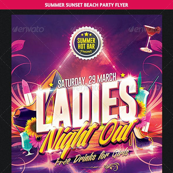 Ladies Night Out Party Flyer