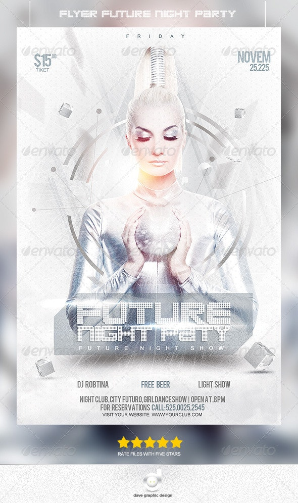 Flyer Night Future Party - Clubs & Parties Events