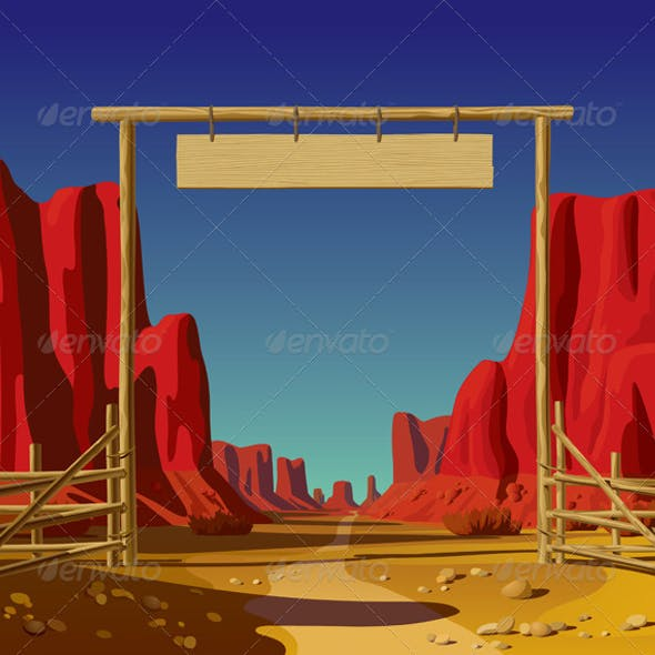 Farm Gate in the Wild West