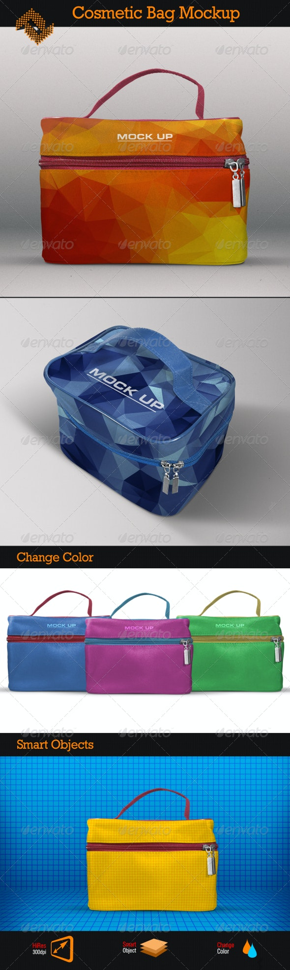 Cosmetic Travel Case Mockup - Miscellaneous Product Mock-Ups