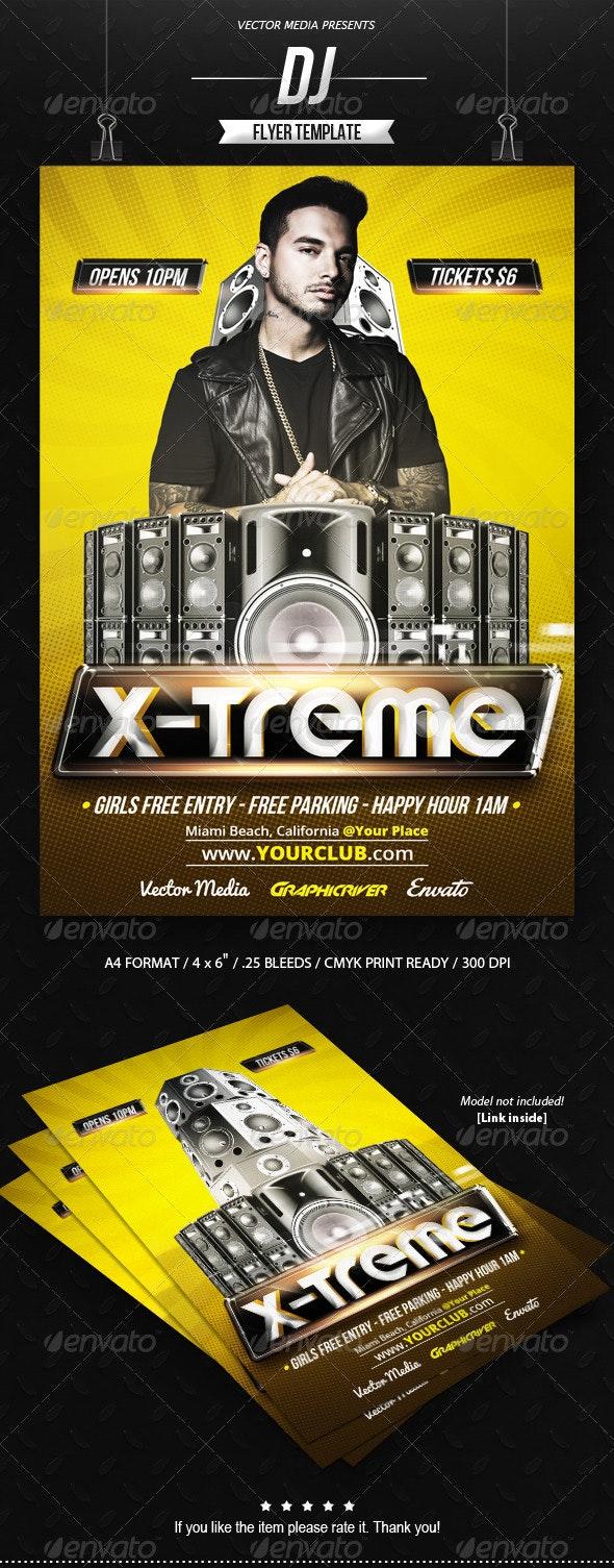 DJ - Flyer - Clubs & Parties Events