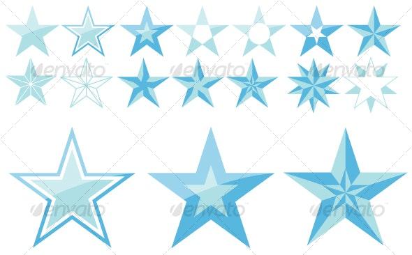 5-point stars - Decorative Symbols Decorative
