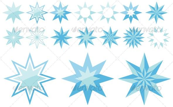 8-point stars - Decorative Symbols Decorative