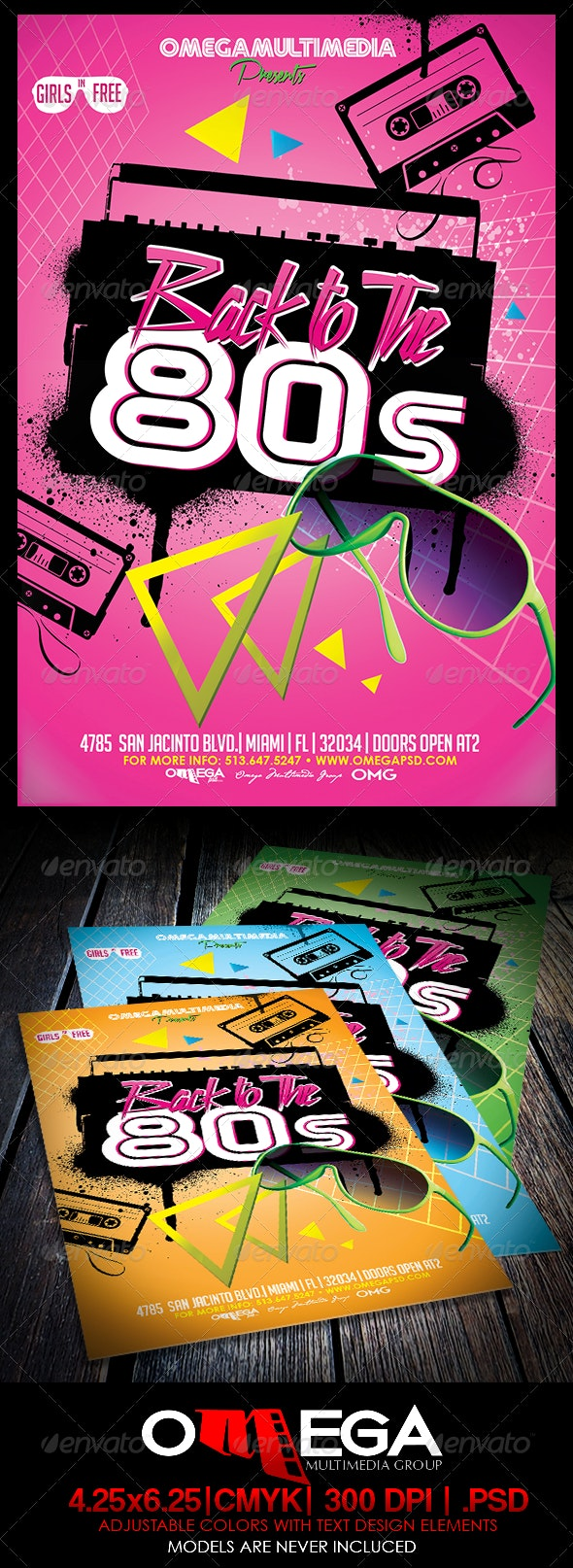 Back to the 80's - Events Flyers