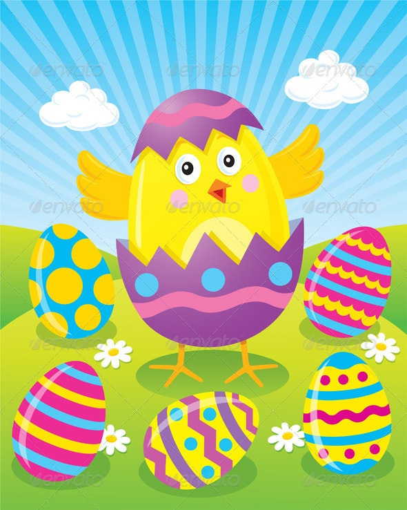 Easter Chick Hatching - Seasons/Holidays Conceptual