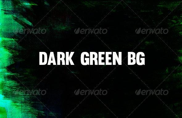Dark Green Background - Abstract Textures