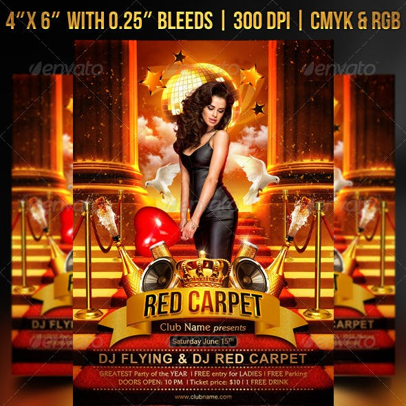 Red Carpet Flyer Template
