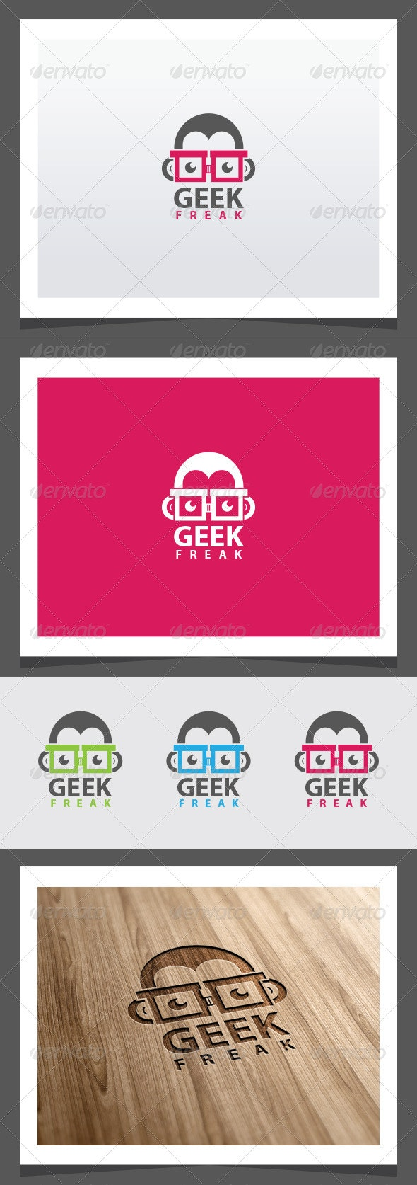 Geek Freak Logo Template - Vector Abstract