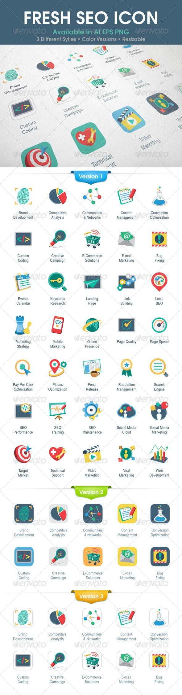 Fresh SEO Icons - Business Icons