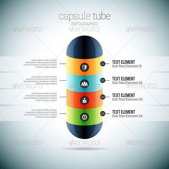 Capsule Tube Infographic - Infographics