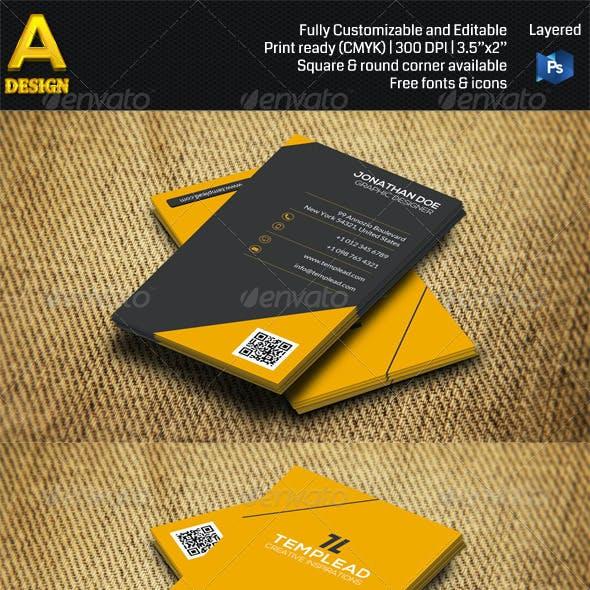 2 in 1 Minimal Business Card Bundle ANB0029