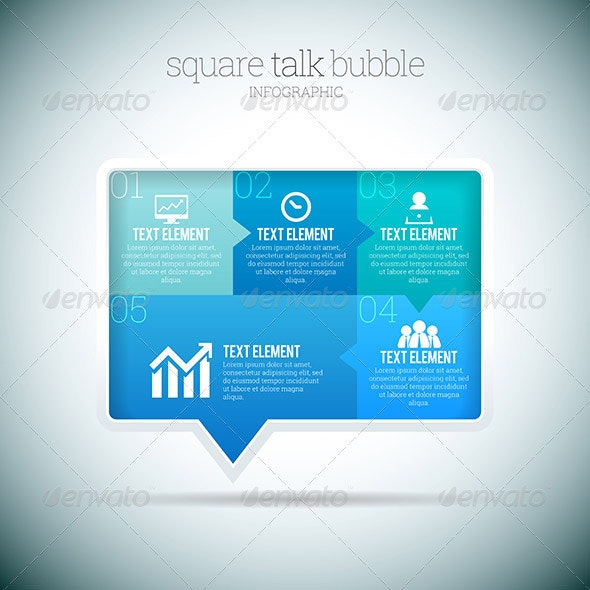 Square Talk Bubble Infographic - Infographics