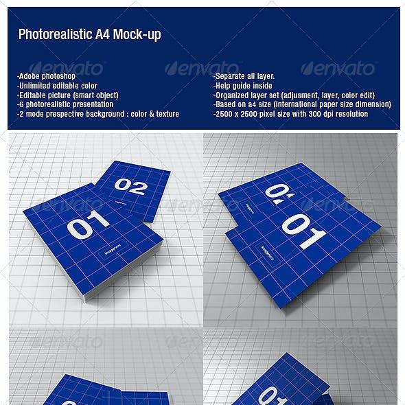 A4 Photorealistic Mock-up