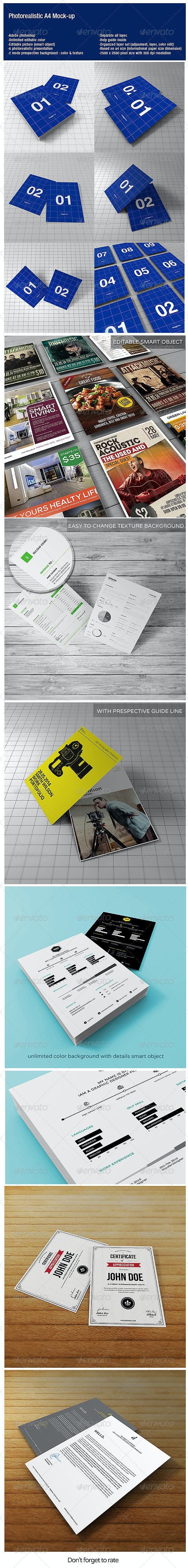 A4 Photorealistic Mock-up - Flyers Print