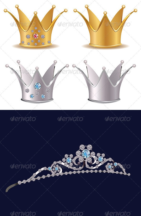 Crown Illustration - Objects Vectors