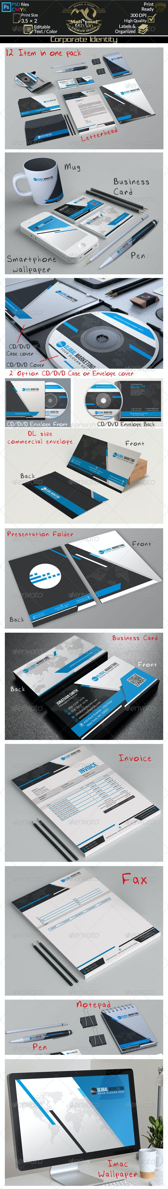 Blue Corporate Identity 03 - Stationery Print Templates