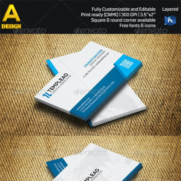 2 in 1 Corporate Business Card Bundle ANB0029