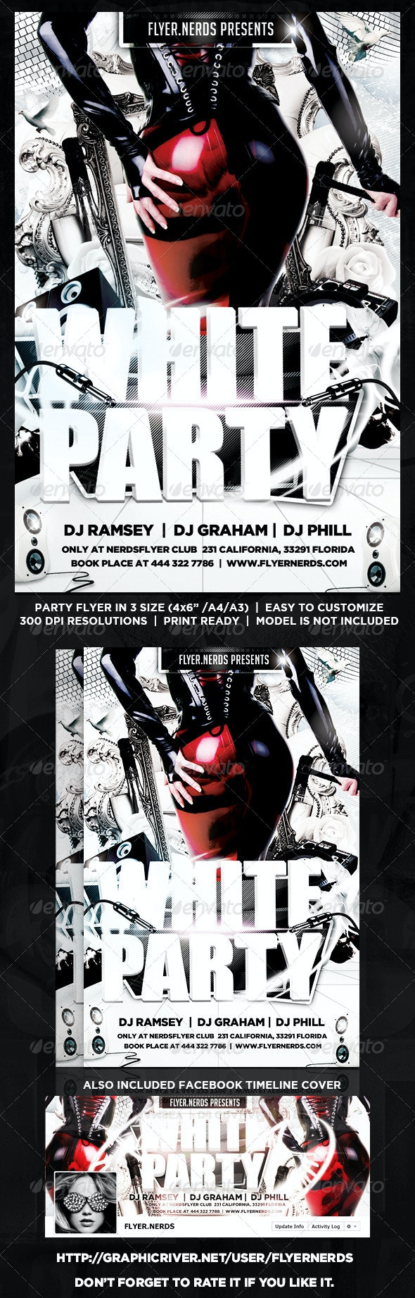 White Night Party Flyer - Clubs & Parties Events