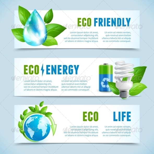 Ecology Horizontal Banners - Industries Business