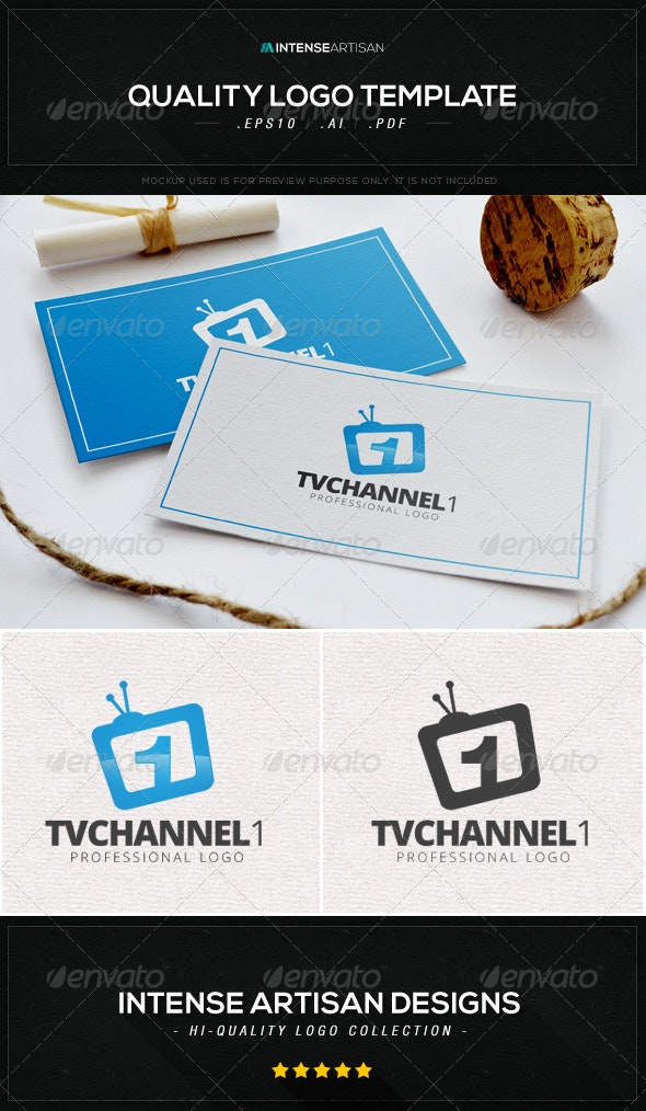 TV Channel 1 Logo Template - Numbers Logo Templates