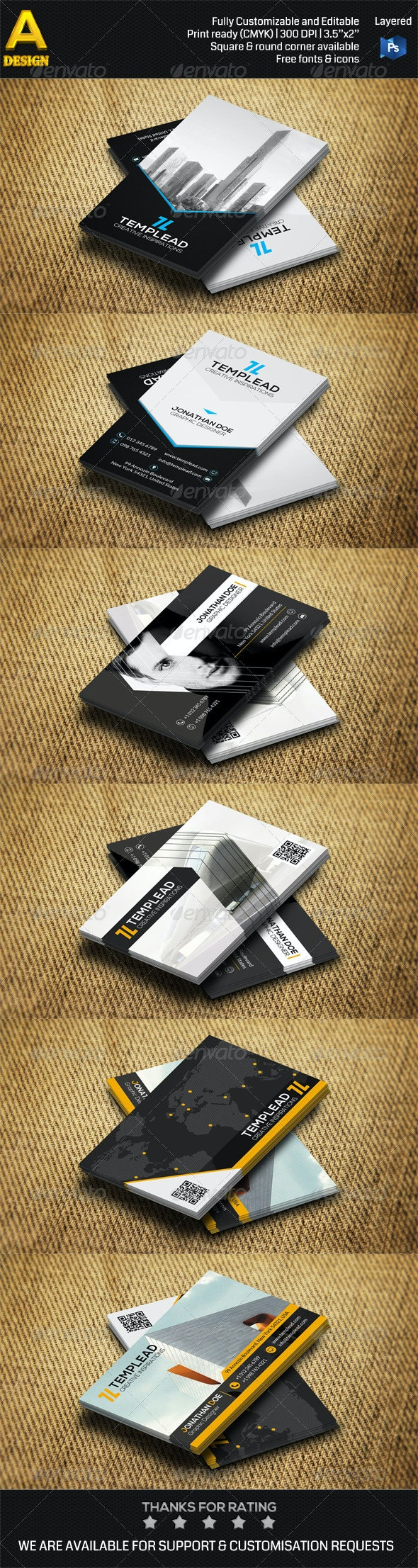 3 in 1 Construction Business Card Bundle 0032 - Industry Specific Business Cards