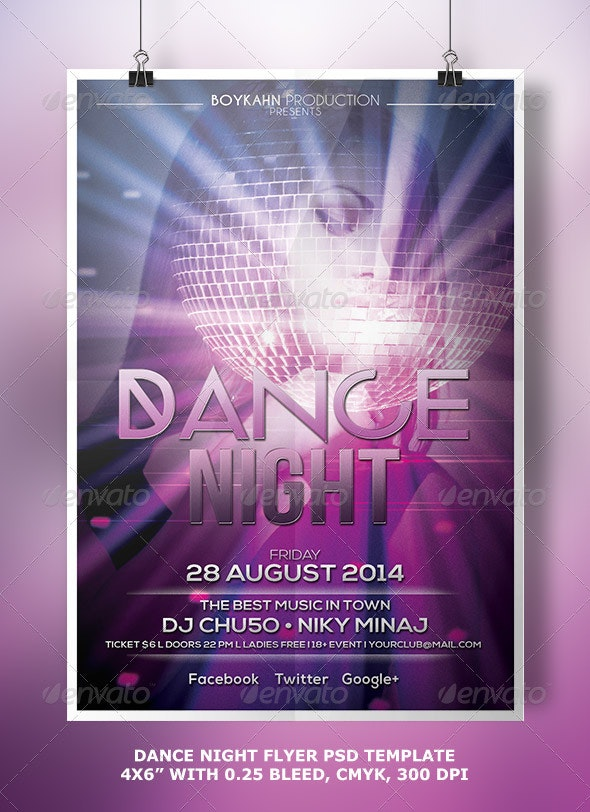 Dance Night | Flyer - Clubs & Parties Events