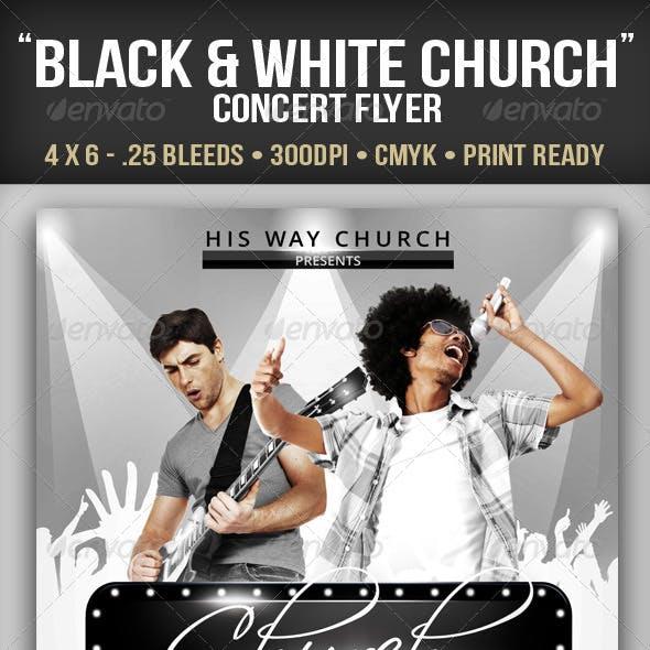 Black & White Church Concert Flyer