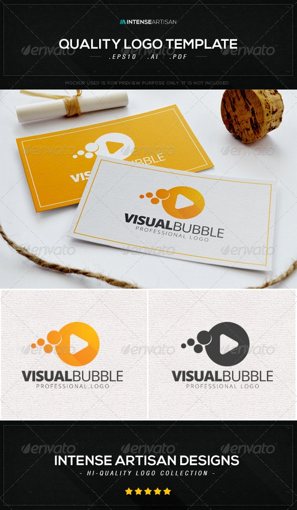 Visual Bubble Logo Template - Objects Logo Templates