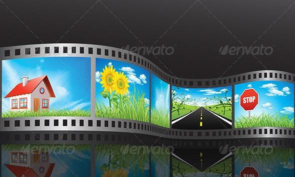 Film Reel - Objects Vectors