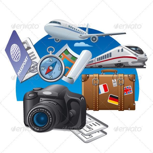 Travel Concept Illustration - Vectors