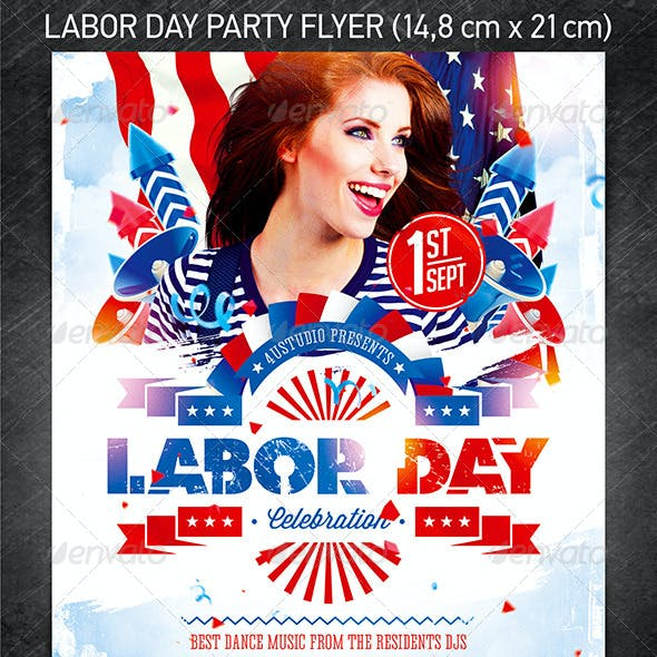 Labor Day Party Flyer vol.2