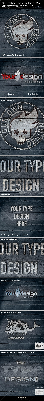 Photorealistic Signage or Text on Wood - Logo Product Mock-Ups