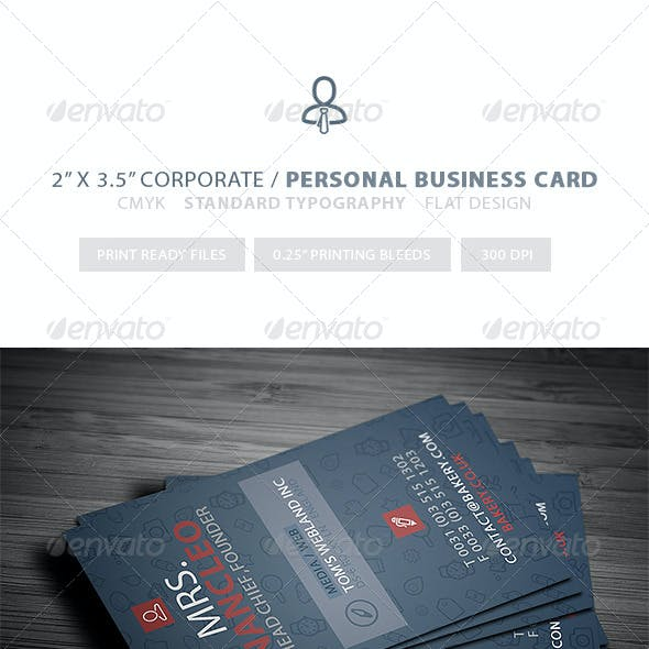 Corporate & Personal - Pro Business Card 001